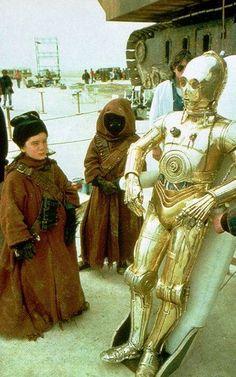 "Behind-The-Scenes Photo Of ""Star Wars"""