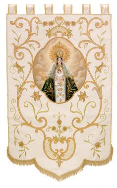 Artículos Religiosos El Angel Arte Sacro Church Stage Design, Cathedral Church, Holiday Festival, Religious Art, Embroidery Patterns, Christianity, Vintage World Maps, Cross Stitch, Flag
