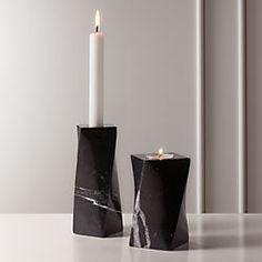 "Set of 2 CB2-CND LED Pillar Flameless Candles 9/"""