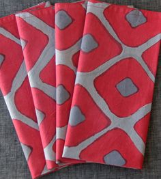 Gretta Grey Cotton Napkins I like the colors and design