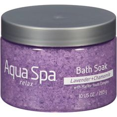 Aqua Spa Lavender + Chamomile Relax Bath Soak, 10 oz. @Yang Tang Spa Bath and Body Products /  #RelaxwithAquaSpa. I received this product free from @Influenster for testing purposes.