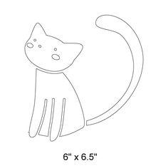 Cat Wall Stencil for Kids Pet Mural or Animal Themed Baby Nursery