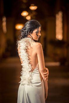 Alkmini Bridal Dress feather