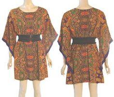 1970s Vintage Hippie Mini Dress Festival Boho Angel Sleeves   eBay