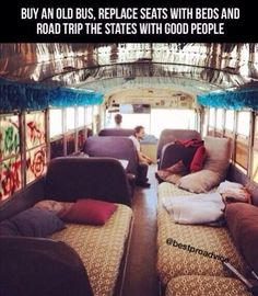 buy an old bus, replace seats with beds and road trip the states with good people. One more thing, paint bus like Dr. Teeth and the Electric Mayhem tour bus. Glamping, Vw Camping, Mundo Hippie, Just Dream, Dream Life, Hereford, Summer Bucket Lists, High School Bucket List, Couple Goals Bucket Lists