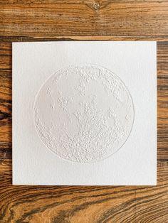 Full Moon Lunar Print Letterpress Art 8x8 Holiday Gift | Etsy