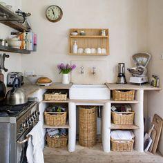 Small, rustic kitchen