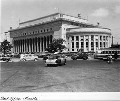 Post Office in Manila after reconstruction under the Philippine Rehabilitation Act of 1946. Date:	ca. 1950