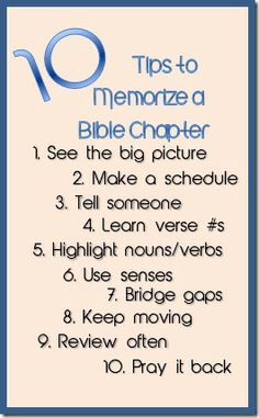 10 tips on how to memorize a whole chapter in the Bible