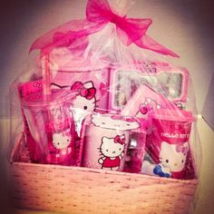 15pc Hello Kitty gift basket Available now at the TrulyTina Boutique
