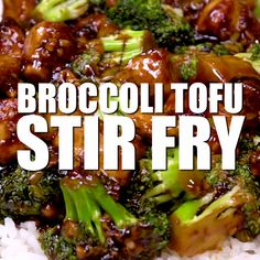recipes easy Broccoli Tofu Stir Fry Easy broccoli tofu stir fry with homemade stir fry sauce! So good and naturally gluten free + vegan. Perfect for those takeout cravings! Tasty Vegetarian Recipes, Vegan Dinner Recipes, Vegan Dinners, Whole Food Recipes, Cooking Recipes, Healthy Recipes, Vegan Recipes Chinese, Recipes With Tofu Vegan, Cooking With Tofu