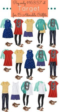 love this idea! i want to try tis myself Gotta love Target! Check out these mix and match outfits for the ultimate affordable and stylish wardrobe.
