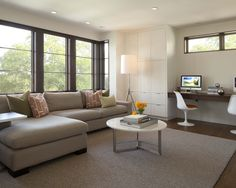 Like the windows  Contemporary Family Room Design, Pictures, Remodel, Decor and Ideas - page 9