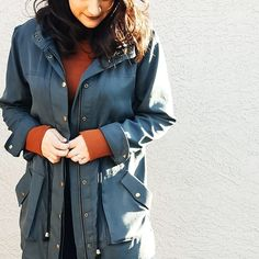 Beautiful Kelly Anorak in a tencel twill // Closet Case Patterns Anorak Jacket, Jacket Pattern, Draping, Stylish, Chic, Muse, How To Make, Jackets, Inspiration