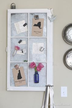 How to Age New Galvanized Metal & Make a Vintage Window Memo Board - Finding Home