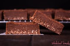 Chocolate Slice. Simple, delicious and free from gluten, grains, dairy, egg and refined sugar. Enjoy.