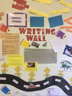 Fantasy story working wall.