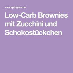 Low-Carb Brownies mit Zucchini und Schokostückchen