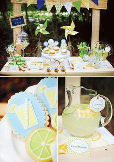 Fresh & Modern Summer Lemonade Stand Party