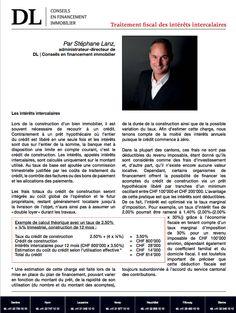 #Conseil #Immobilier #Financement #Investissement #Banques: Les interets intercalaires. Dans votre #IMMOmagazine No.27