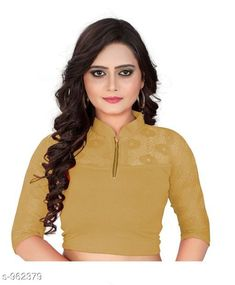 Blouses Trendy Cotton Lycra Hosiery Blouse Fabric: Cotton Lycra Hosiery Sleeves: 3/4 Sleeves Are Included Size: Up To 28 in To 36 in (Free Size ) Type: Stitched Description: It Has 1 Piece Of Blouse   Pattern: Solid Country of Origin: India Sizes Available: Free Size   Catalog Rating: ★4.2 (451)  Catalog Name: Free Gift Designer Womens Cotton Lycra Hosiery Readymade Blouse CatalogID_113824 C74-SC1007 Code: 522-962379-774