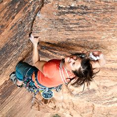 Bad ASS    Brittany Griffith. 40 and still sending hard trad lines - inspiration!