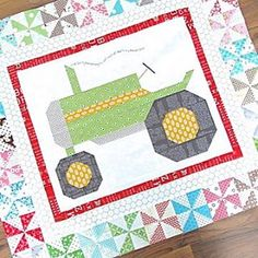it's Farm Girl Friday! Tractor Quilt, Farm Quilt, Small Quilts, Mini Quilts, Baby Quilts, Quilting Designs, Quilting Ideas, Quilting Patterns, Homemade Quilts