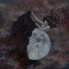 Moon Revealed by Anna Magruder Night Sky Moon, Night Skies, Nighttime Sky, Mystic Moon, Falling Stars, Photography Services, Stars And Moon, Mythology, Art Gallery