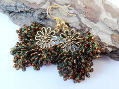 Amazing Colourful Multibeads Earrings – a unique product by LolaArtStudio via en.DaWanda.com #ethnic #jewellery