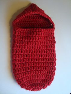 Handmade Crochet Red Valentine Baby Cocoon with by SuperCrochetMom