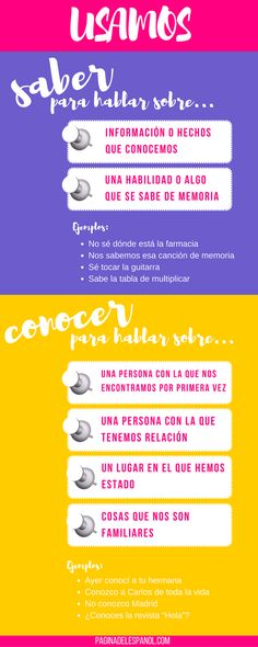 24 Best Saber vs conocer images in 2019 | Spanish class