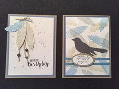 7 Cardologists: Twofer challenge Feather Cards, Happy Birthday, Challenges, Stamp, Blog, Happy Brithday, Urari La Multi Ani, Stamps, Happy Birthday Funny