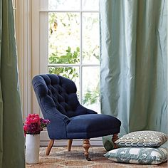 Custom Upholstered Piccadilly Chair in Designer Fabrics   Serena & Lily