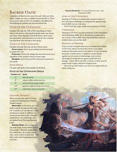 Oath of the Unyielding by IrishBandit / BoltNine Homebrew
