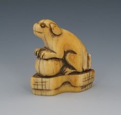 Dog with Ball, Edo Period