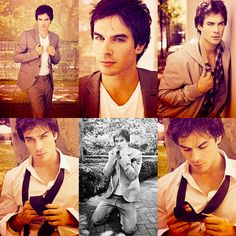 Ian Somerhalder from The Vampire Diaries. I read the novels for Damon. I watched a few eps for Damon.