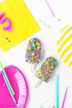 Birthday Cake Ice Cream Bars | studiodiy.com