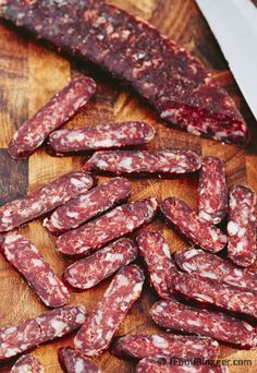 Homemade sujuk - dry cured beef sausage made from scratch - absolutely delicious.