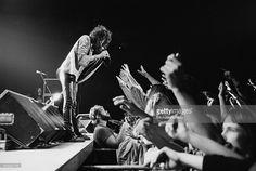 Singer Steven Tyler performing with American hard rock band Aerosmith, USA, November 1978.