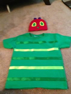 Very Hungry Caterpillar Costume For Character Day At School. Story Book Costumes, Storybook Character Costumes, World Book Day Costumes, Storybook Characters, Teacher Book Character Costumes, Easy Book Week Costumes, Book Characters Dress Up, Character Dress Up, Teacher Costumes