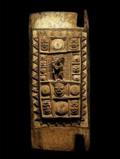Africa | Rare and important Yoruba door by Olowe of Ise (1873 ~ 1938)  Ondo State, Nigeria. Pigments on wood.  Most probably for Ikere Palace