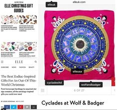 We were thrilled to see that Elle UK selected Cyclades Zodiac as a perfect and out of this world luxury Gift Elle Magazine, Christmas Gifts, Blog, Cards, Xmas Gifts, Christmas Presents, Blogging, Maps, Playing Cards