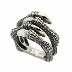 Сrow's Сlaw Woman's Ring Sterling Silver 925 925 Silver, Sterling Silver Rings, Thor's Hammer Mjolnir, Plating, Rings For Men, Wedding Rings, Unisex, Engagement Rings, Metal