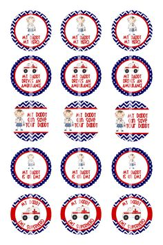Bottle Cap Image Sheet - Instant Download - EMT Daddy - 1 Inch Digital Collage - Buy 2 Get 1 Free by pixelilicious, $2.00
