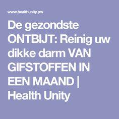 De gezondste ONTBIJT: Reinig uw dikke darm VAN GIFSTOFFEN IN EEN MAAND   Health Unity