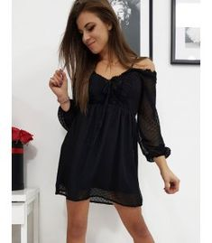 U Cold Shoulder Dress, Black, Dresses, Fashion, Vestidos, Moda, Black People, Fashion Styles, Dress