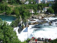The Rheinfall is the biggest waterfall in Europe and it is in canton Schaffhausen, Switzerland, which is not too far from the German border. On both sides, you can reach different spectacular viewing platforms which rise partly above the Rhine. You can also take an excursion boat that come very near to the falls and let you drop on the middle rock.