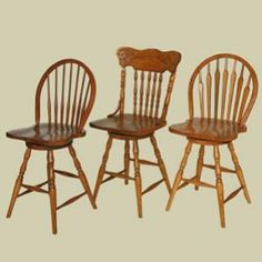 Heritage Colonial Charter Bow Back Windsor Swivel Dining Stool (Left)