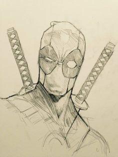 dibujos de deadpool a lapiz carboncillo - Visit to grab an amazing super hero sh. - dibujos de deadpool a lapiz carboncillo – Visit to grab an amazing super hero shirt now on sale! Pencil Art Drawings, Drawing Faces, Drawing Sketches, Cool Drawings, Sketching, Marvel Drawings, Cartoon Drawings, Deadpool Drawings, Superhero Sketches