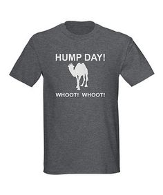 Let the hump day festivities begin! This celebratory tee commemorates the best day of the week with a statement graphic and cozy cotton fabric for a fabulous fit.